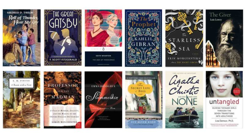 Ten book covers in two rows.
