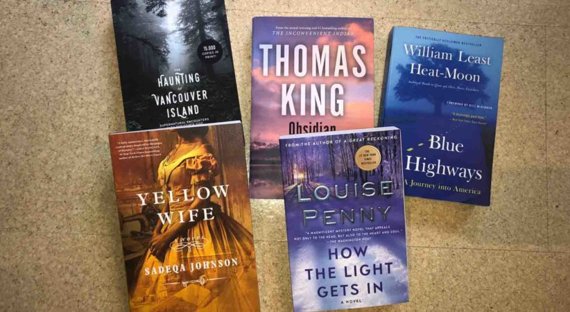 5 book covers.