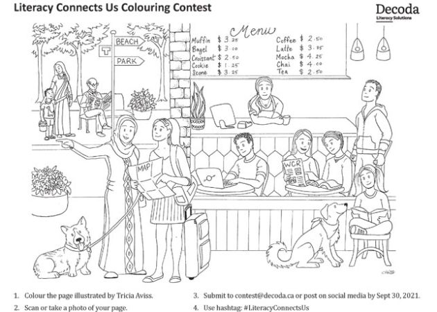 Literacy Month Colouring Contest sheet