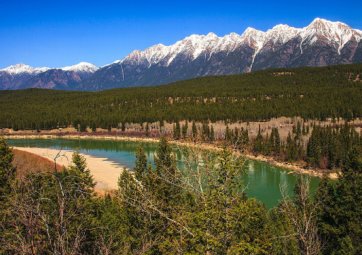 The Steeples near Cranbrook, and the Kootenay River
