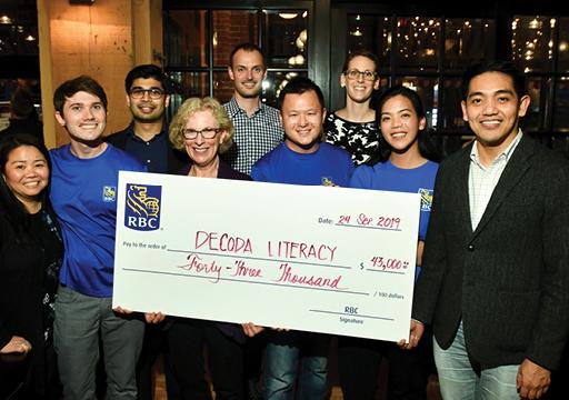 Decoda Literacy Foundation Donor cheque