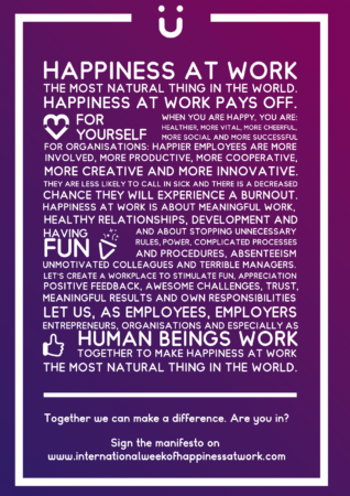 Happiness at work manifesto