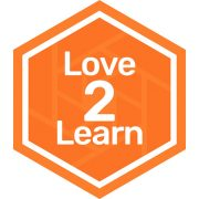 Love 2 Learn badge