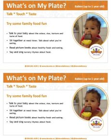 What's on my plate for babies