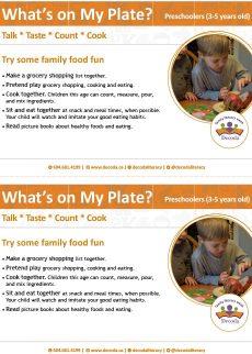 What's on my plate preschool