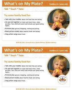 What's on my plate for toddlers