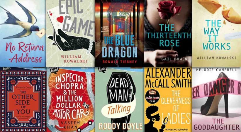 A selection of 10 fiction book covers