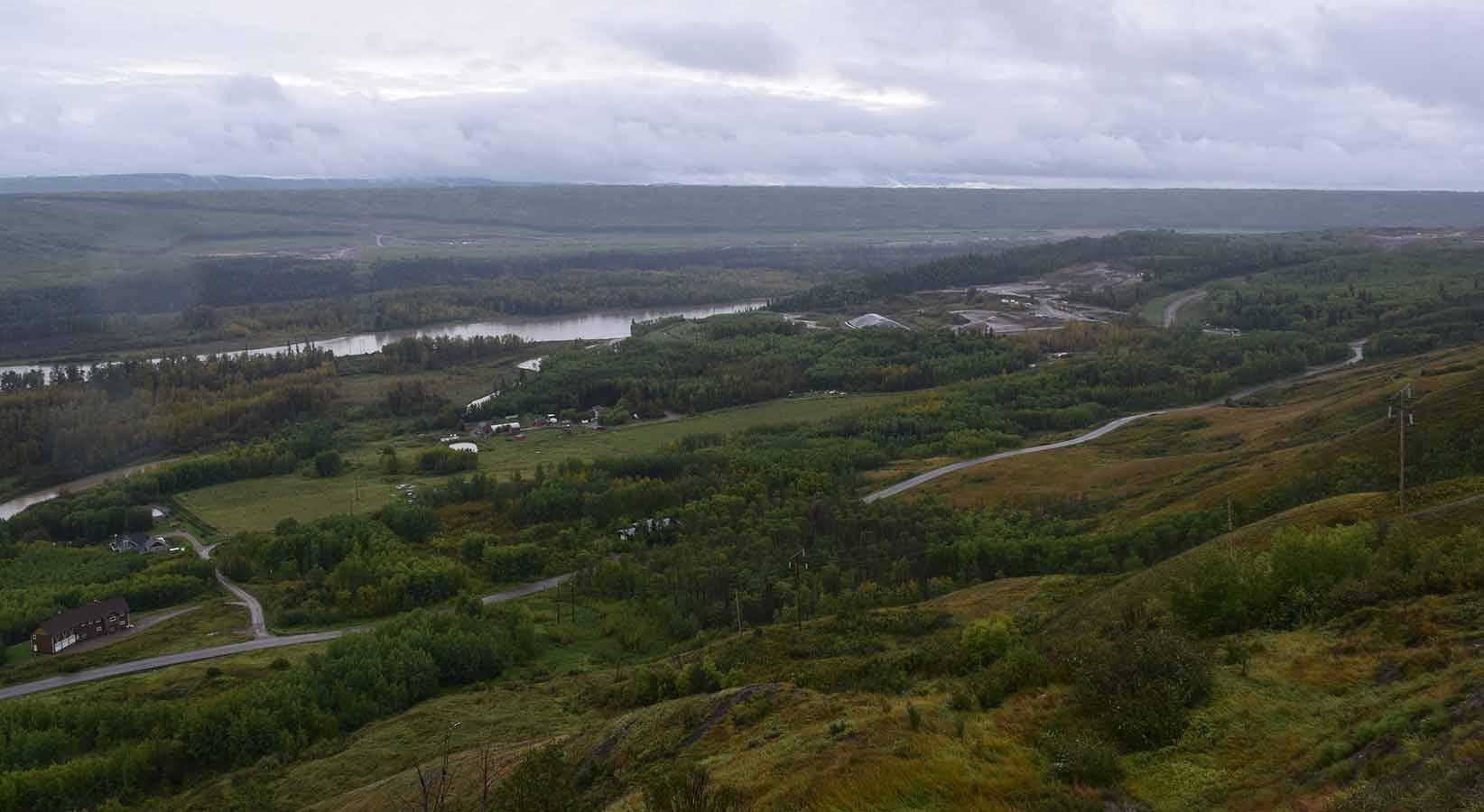 Site C Dam construction site near Fort St. John.