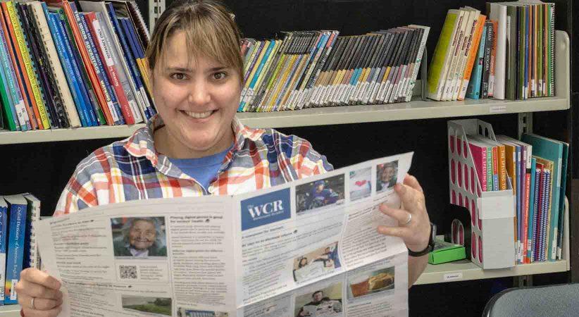 Paulina reads the Westcoast Reader