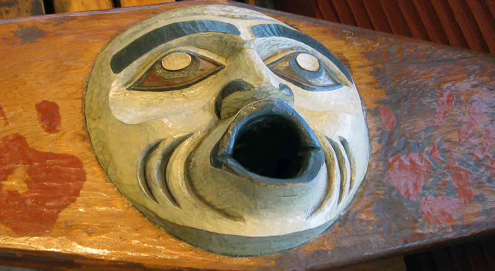 Indigenous mask called Lilwat North Wind
