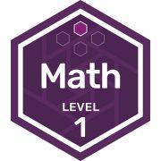 Math badge level 1