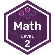 Math badge level 2