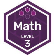 Math badge level 3