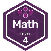 Math badge level 4
