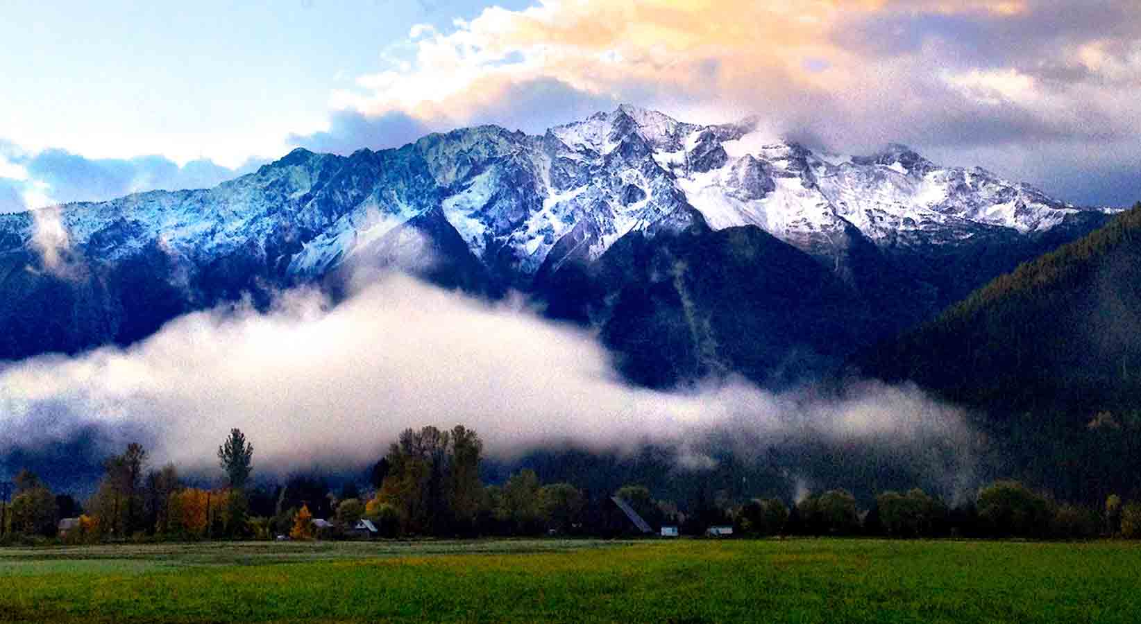 Mount Currie with fog
