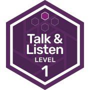 Oral Communications badge level 1