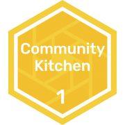 Community kitchen level 1 badge