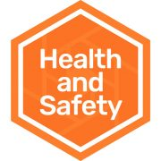 Health and safety badge