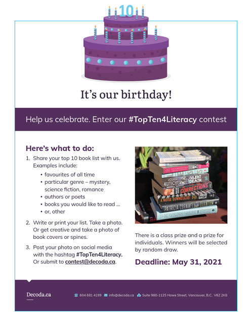 Poster explaining the instructions to enter the contest (same as text on page)