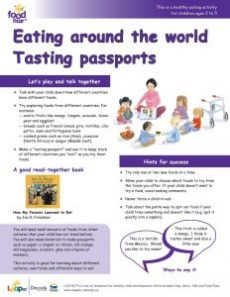 Tasting Party - eating around the world tasting passports