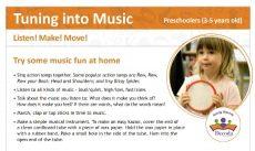 Tuning into Music Listen! Make! Move! - Preschoolers cover
