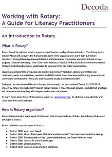 Working with Rotary: a guide for literacy practitioners