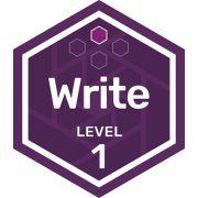 Write badge level 1