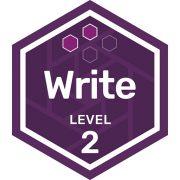 Write badge level 2