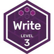Write badge level 3