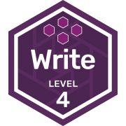 Write badge level 4